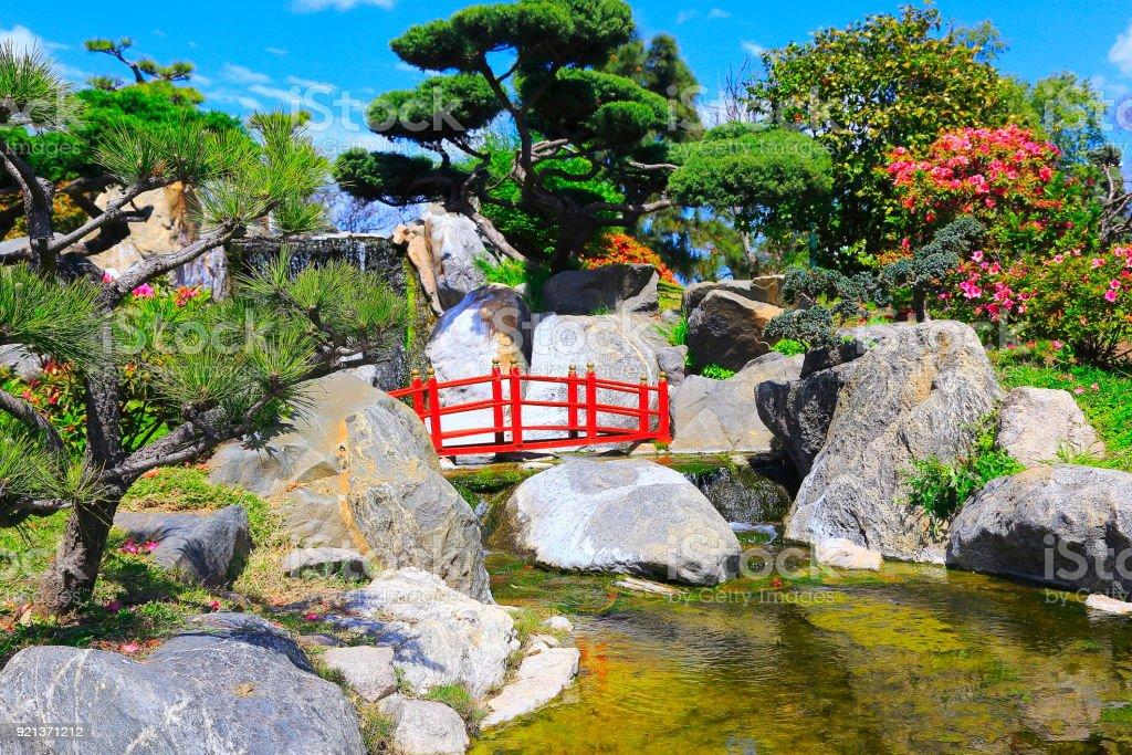 Idyllic Japanese Ornamental Gardens Public Park Buenos Aires ...