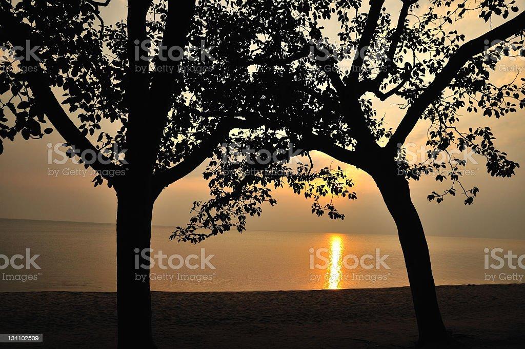 Idyllic Lake Kivu at Sunset, Gisenyi, Rubavu, Rwanda stock photo
