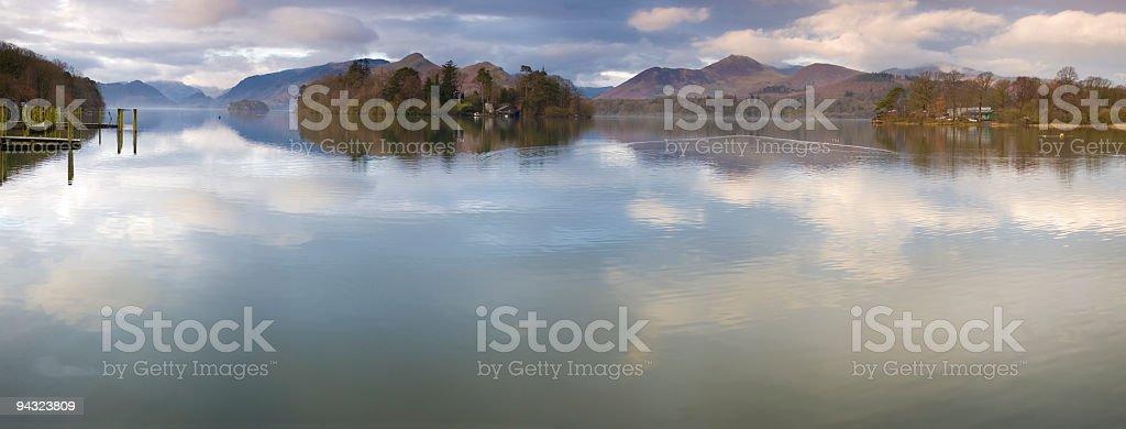 Idyllic lake landscape royalty-free stock photo