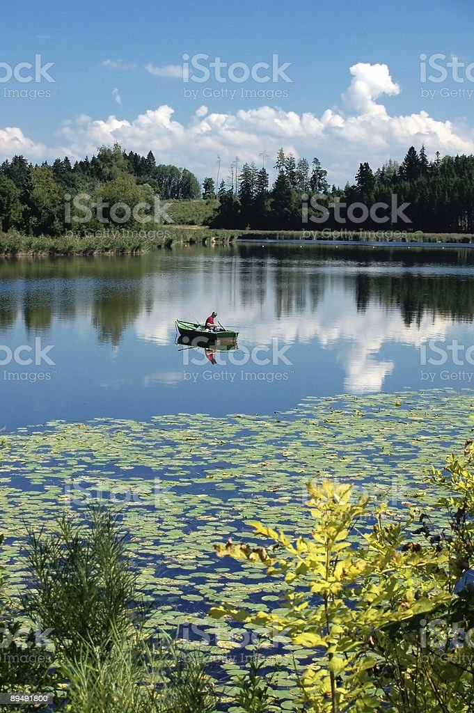Idyllic Lake Scenery royalty-free stock photo