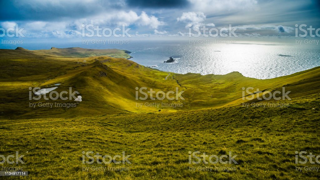 Idyllic landscape at Faroe Islands стоковое фото