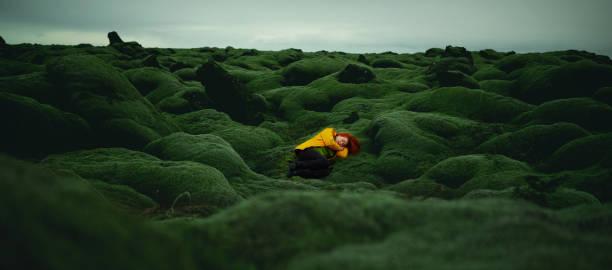 Idyllic landscape in Iceland stock photo
