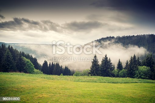 Idyllic landscape in spring – Thuringia, Germany