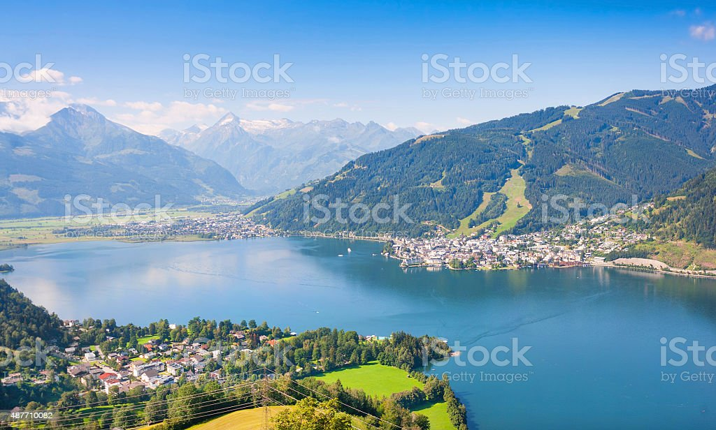 Idyllic landscape in the Alps in Zell am See, Austria stock photo
