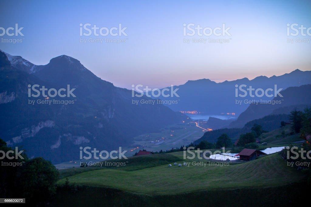 Idyllic landscape in the Alps stock photo