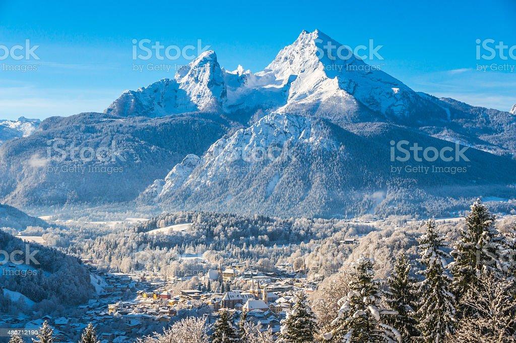 Idyllic landscape in the Bavarian Alps, Berchtesgaden, Germany stock photo