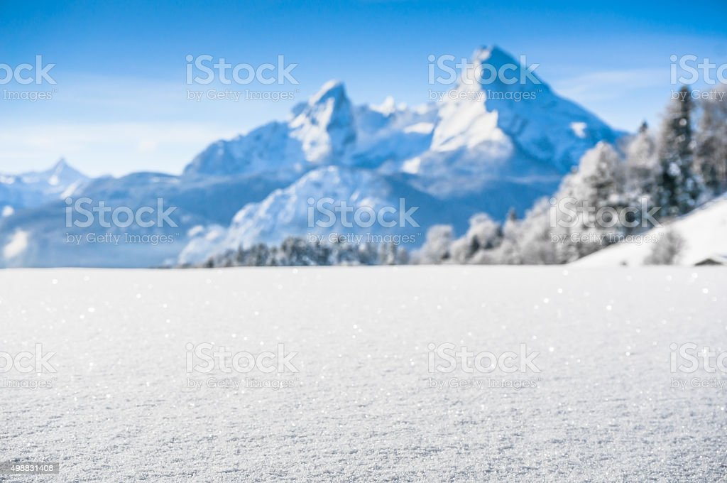 Idyllic landscape in the Bavarian Alps, Berchtesgaden, Germany stock photo