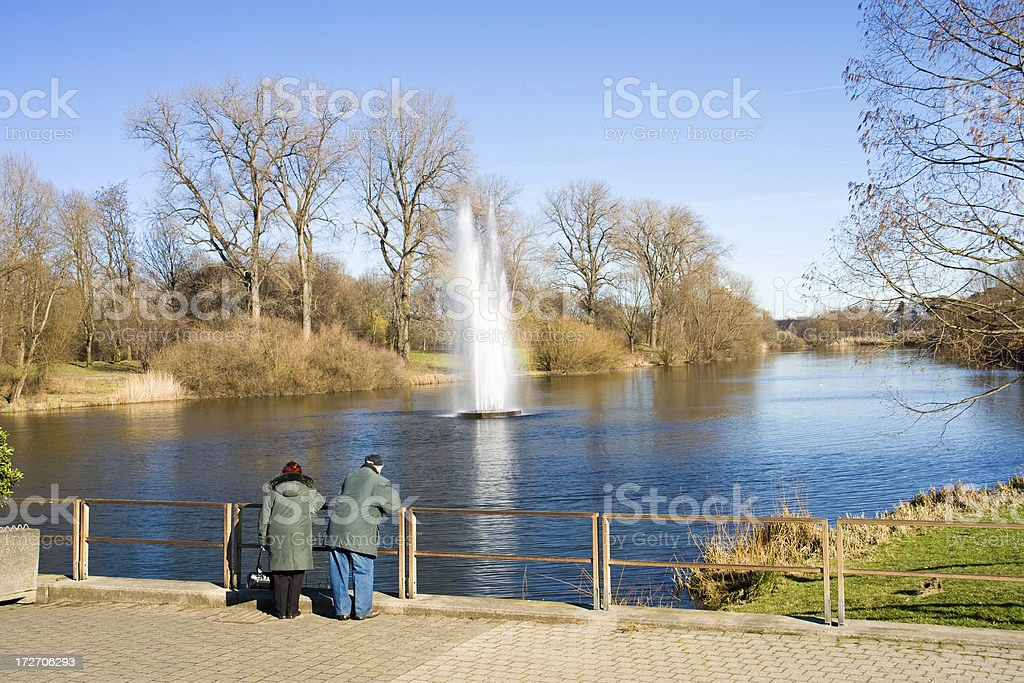 Idyllic landscape nearby Cologne royalty-free stock photo