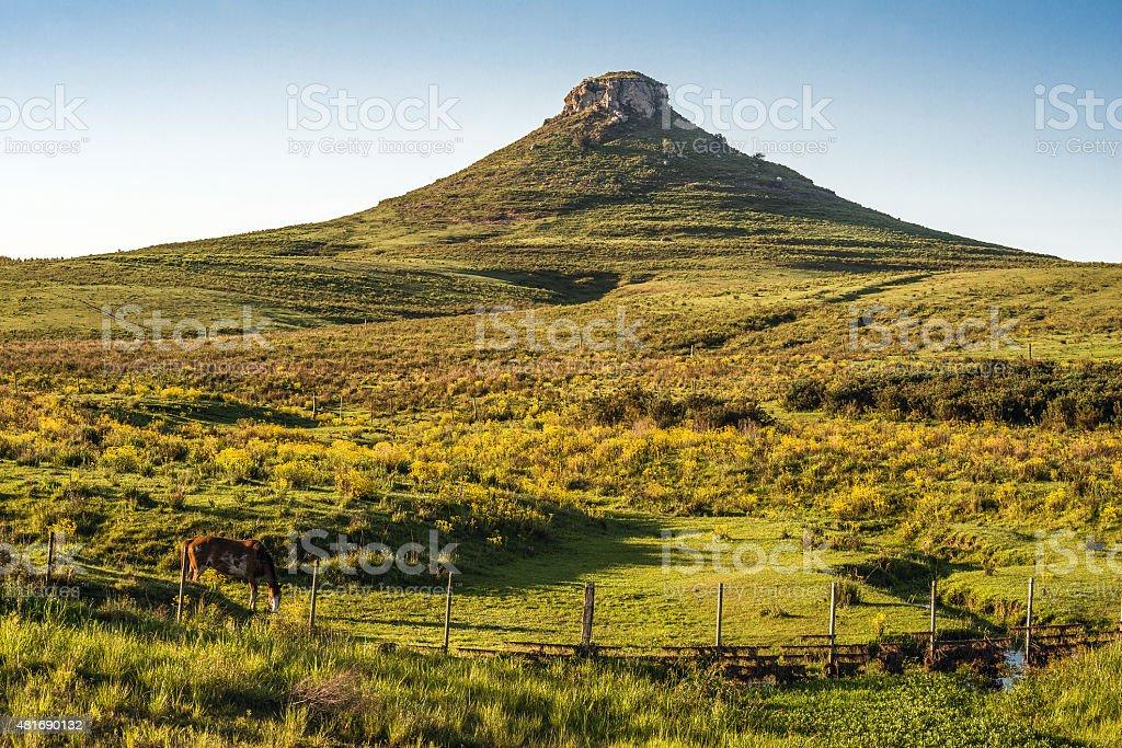 Idyllic landscape of Batovi Hill, Tacuarembo, Uruguay stock photo