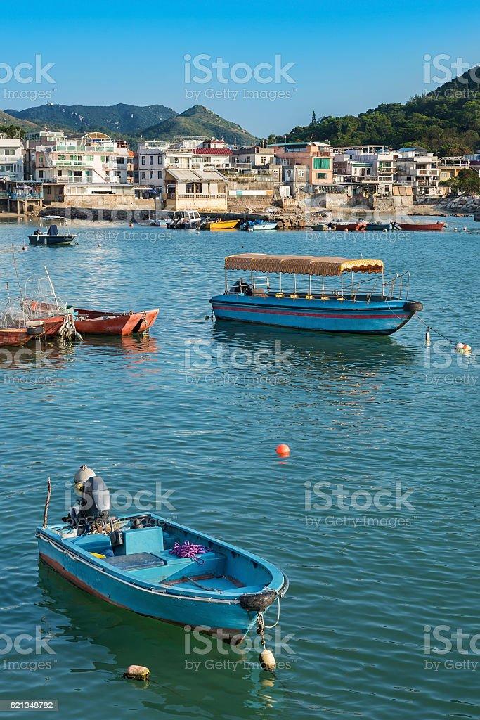 Idyllic landscape of Hong Kong stock photo