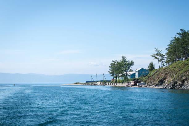 Idyllic landscape of Lake Baikal, Listvianka, Siberia, Russia stock photo