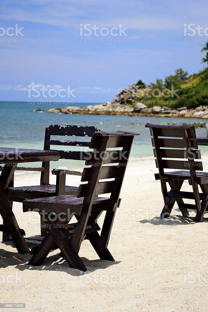 Idyllic location for breakfast royalty-free stock photo