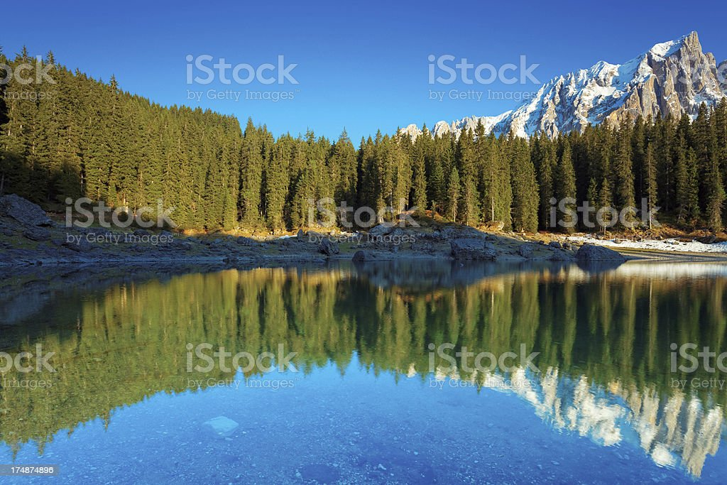idyllic mountain lake royalty-free stock photo