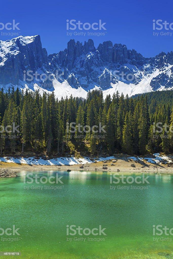 idyllic mountain lake royalty-free stock photo