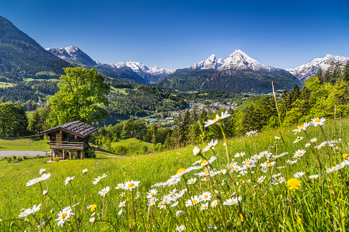 Idyllic mountain landscape in the Alps