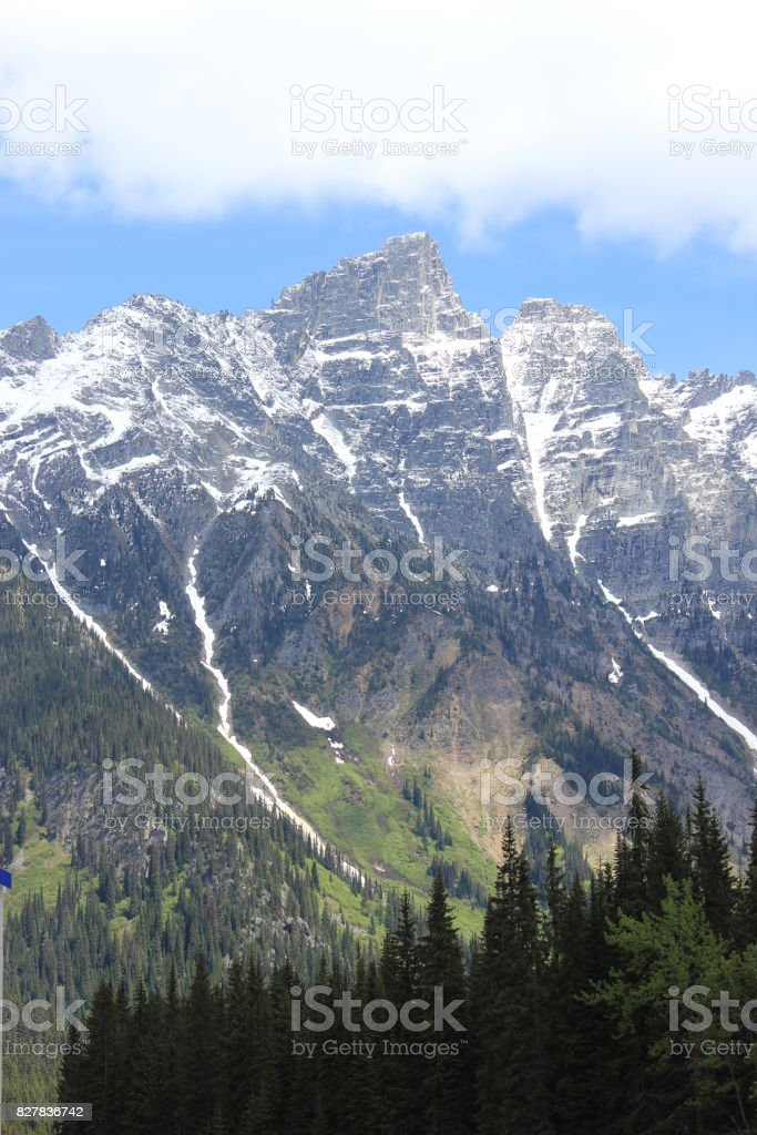Idyllic mountain landscape in the Rockies stock photo