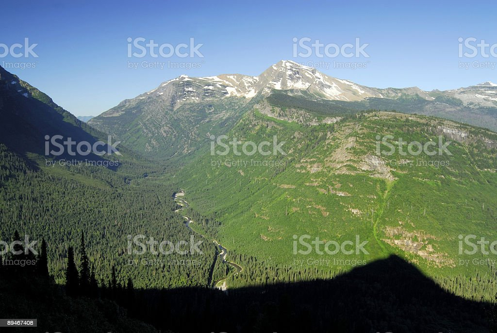 Idyllic Mountain View royalty-free stock photo