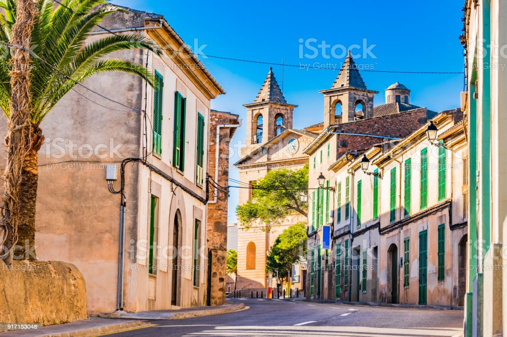 Idyllic old mediterranean village Calonge on Majorca island, Spain - foto stock