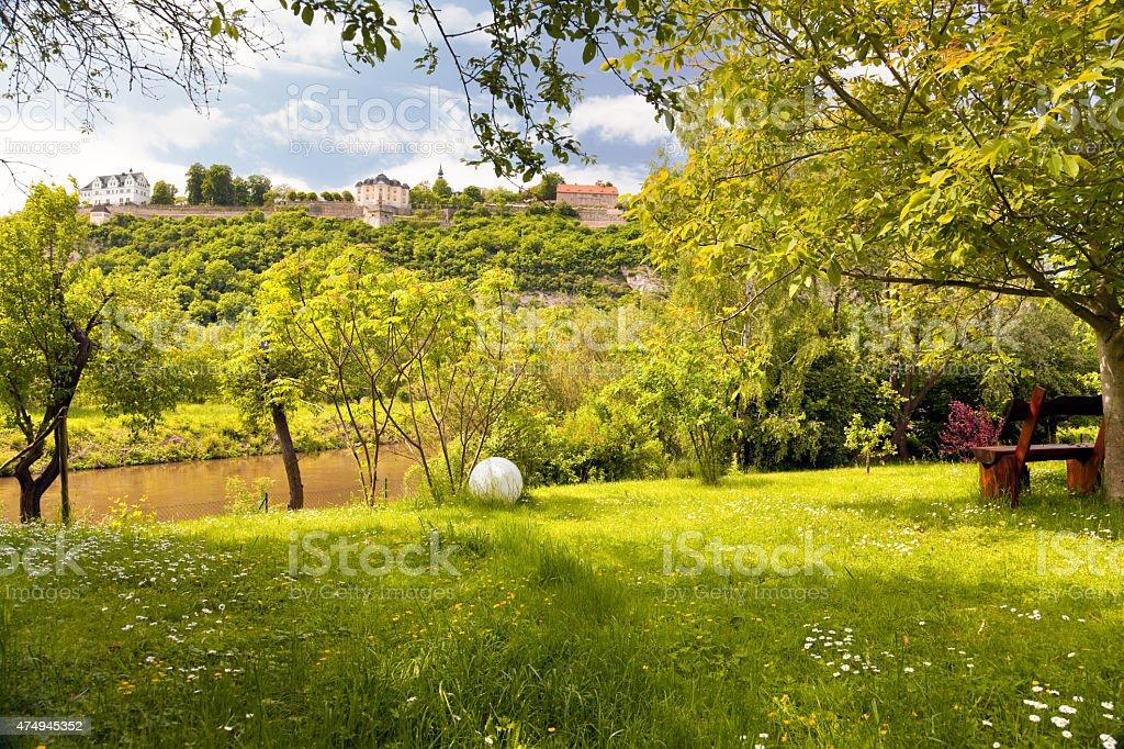 idyllic park stock photo