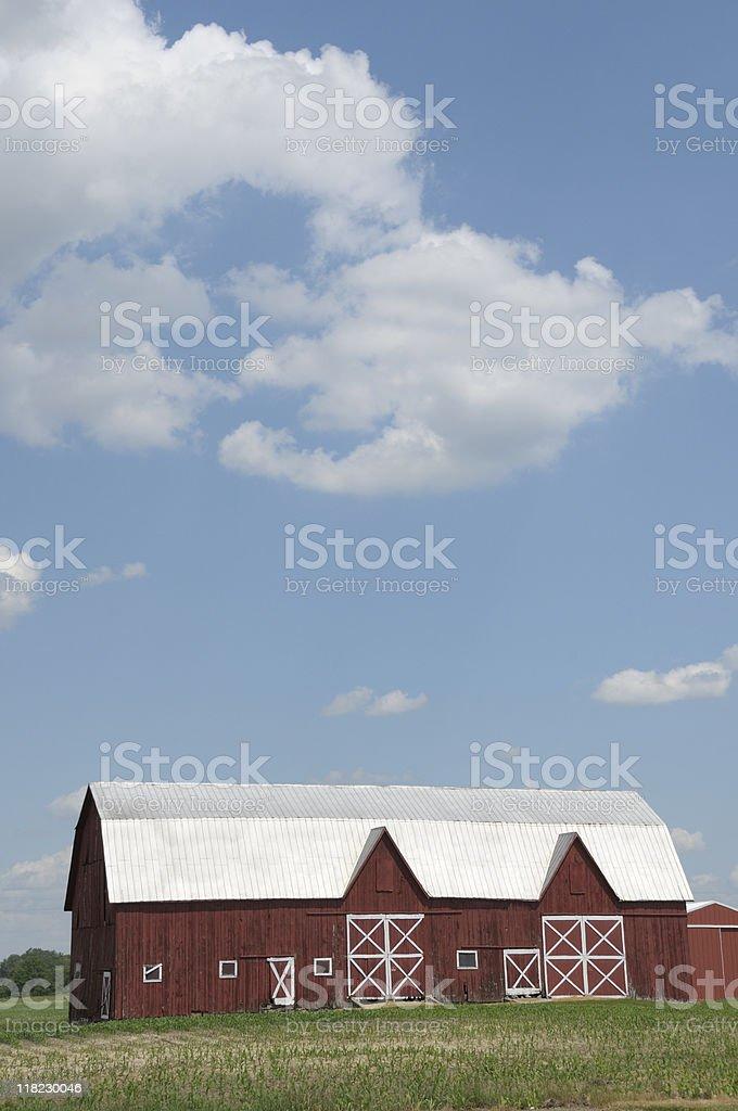 Idyllic Red Barn stock photo
