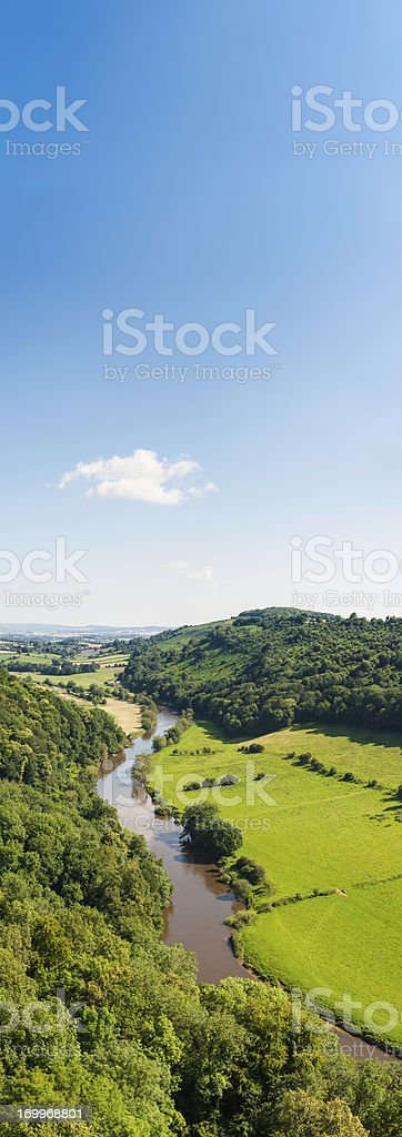 Idyllic rural landscape banner stock photo