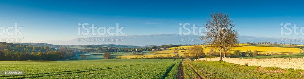 Idyllic rural scene royalty-free stock photo