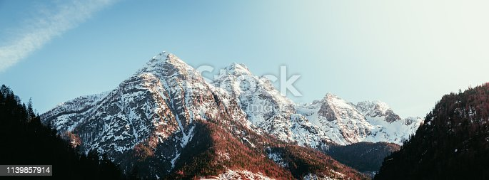 istock Idyllic scenery with snowy mountains, Alps, Austria 1139857914