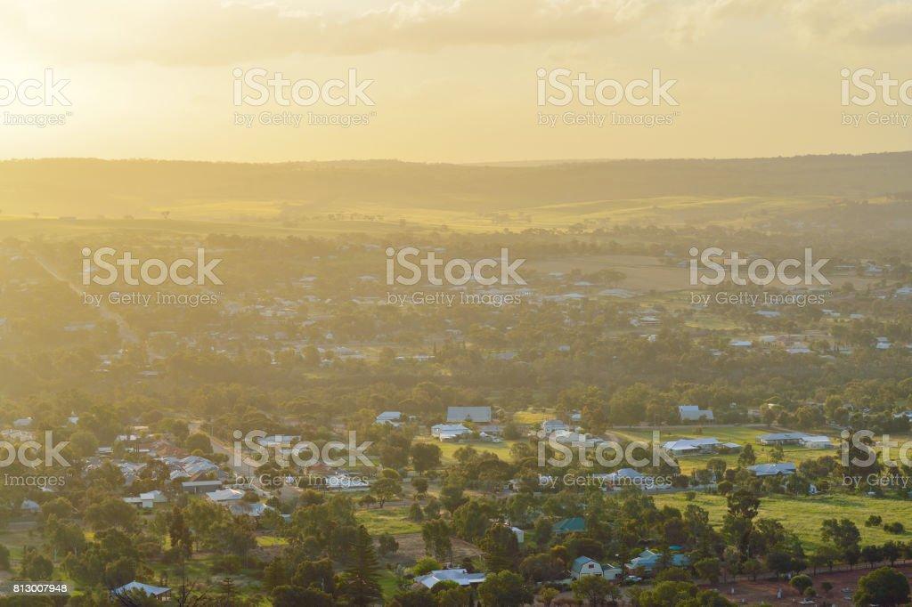 Idyllic Scenics at Dusk, York, Western Australia stock photo