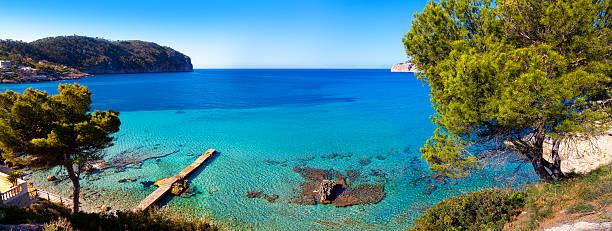 Idyllic Sea View in Mallorca stock photo