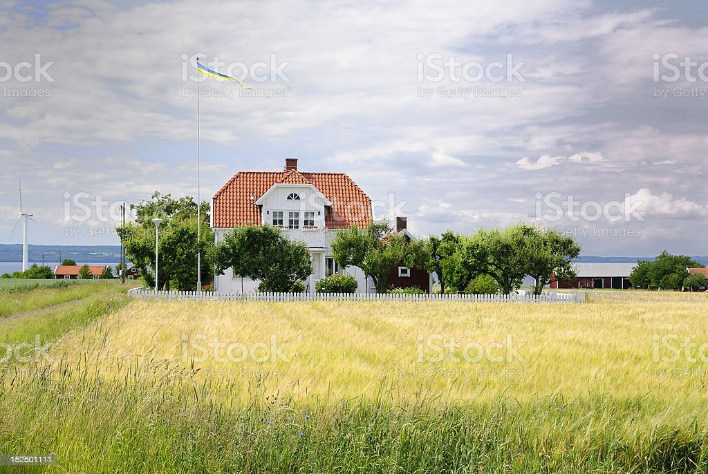 Idyllic summer house royalty-free stock photo