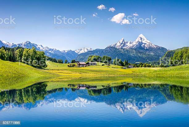 Idyllic summer landscape with mountain lake in the alps picture id525771995?b=1&k=6&m=525771995&s=612x612&h=k8k87zeim1oiqq3bk sqp4bhyskasfwq7hf3ldnqgxw=