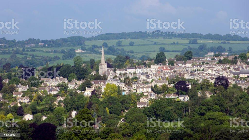 Idyllic summer view of Painswick stock photo
