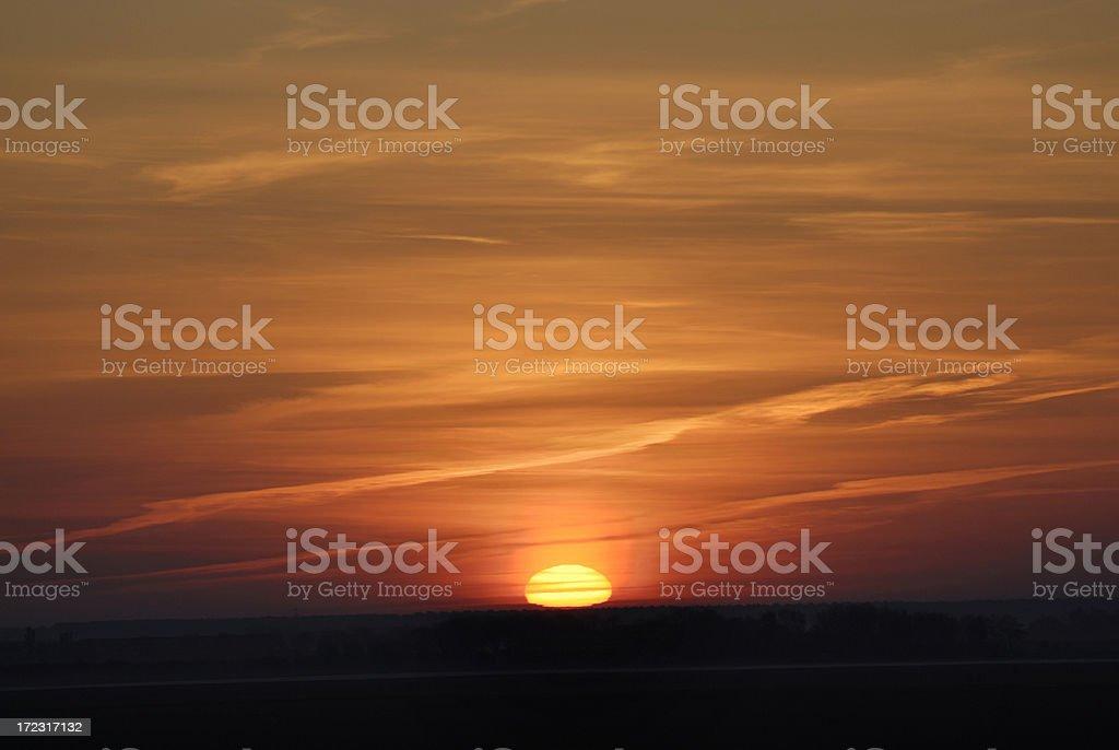 Idyllic Sunrise royalty-free stock photo