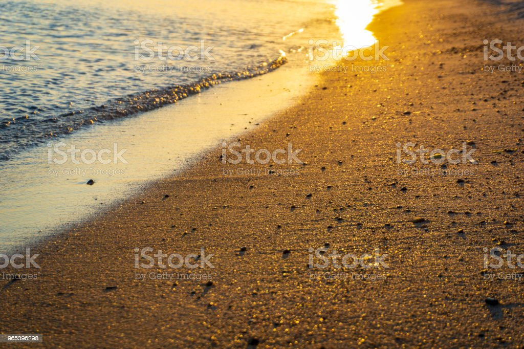 Idyllic sunset at the beach in Bornholm, Denmark on a day in summer zbiór zdjęć royalty-free