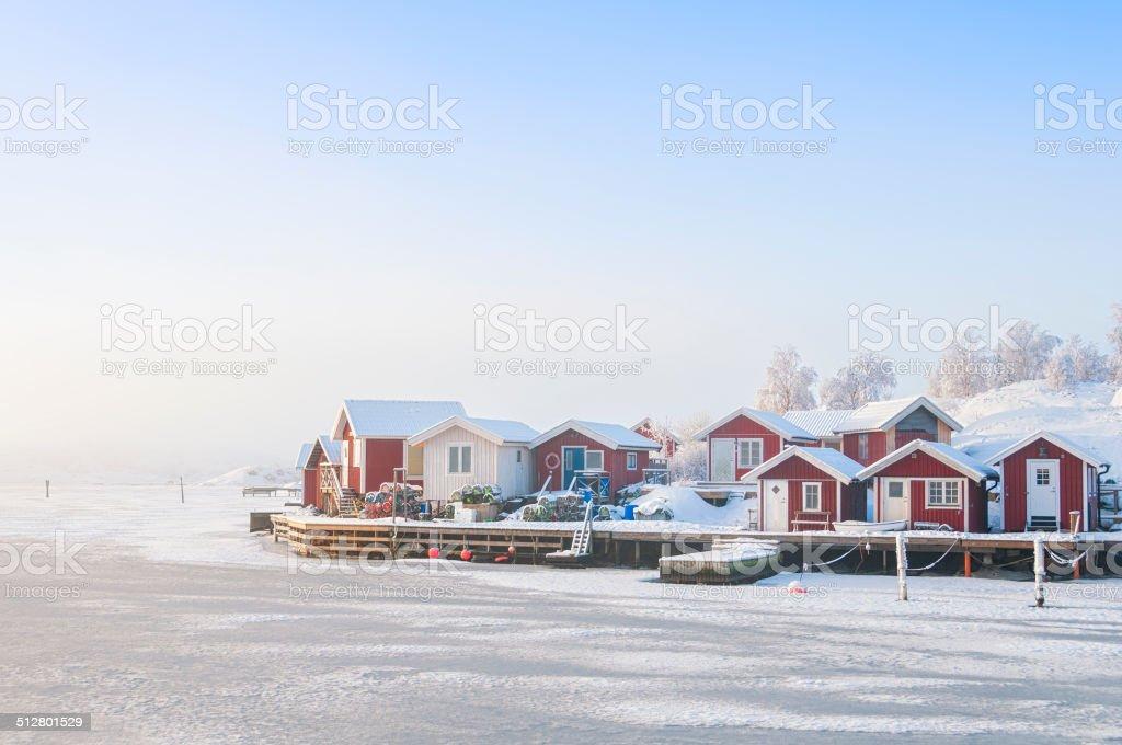 Idyllic Swedish coast stock photo