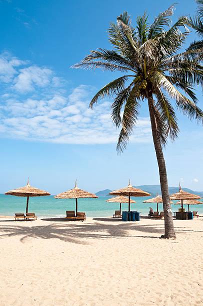 Idyllic Tropical Beach In Nha Trang, Vietnam stock photo