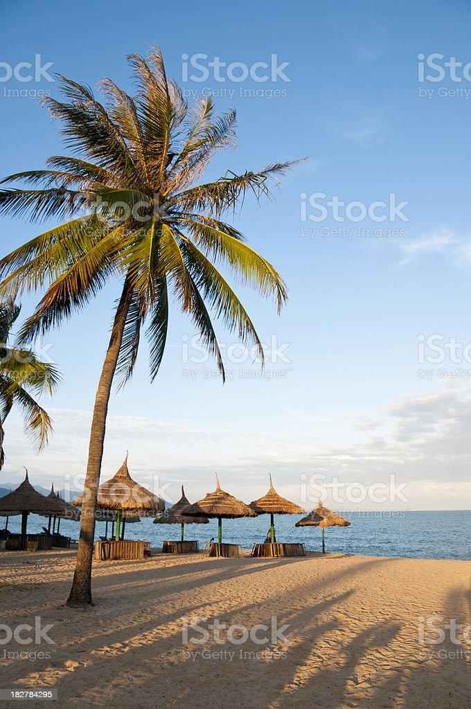 Idyllic Tropical Beach In Nha Trang, Vietnam royalty-free stock photo