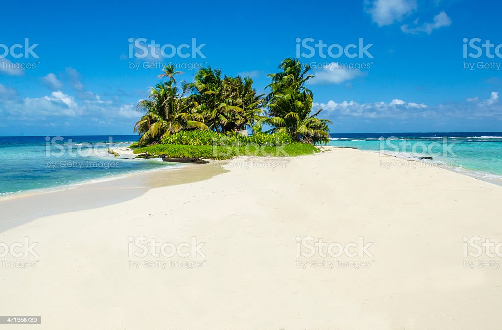 Idyllic tropical island stock photo
