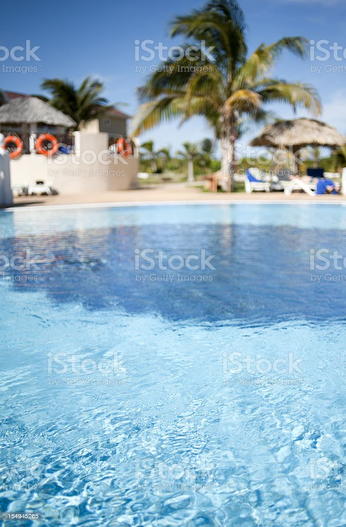 Idyllic Tropical Resort Pool, Vacation, Fun in the Sun royalty-free stock photo