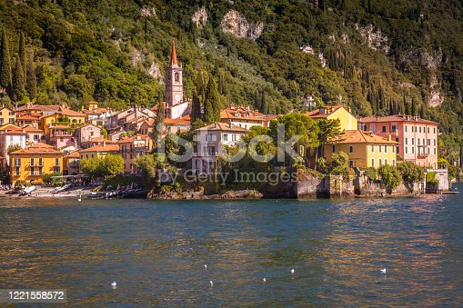 Idyllic Varenna cityscape on Lake Como - Lombardy, Italy