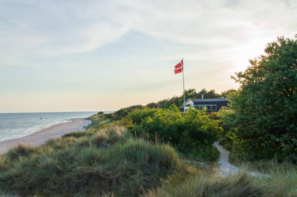 Idyllic view close to beach at the Baltic Sea stock photo