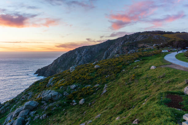 Idyllic view in Finisterre, landscape in Galicia, Spain, on a day in spring stock photo
