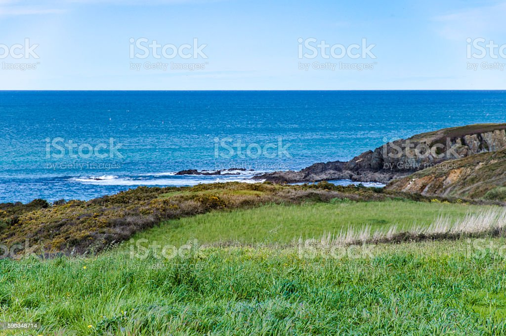 Idyllic view of a coast in Spain royalty-free stock photo