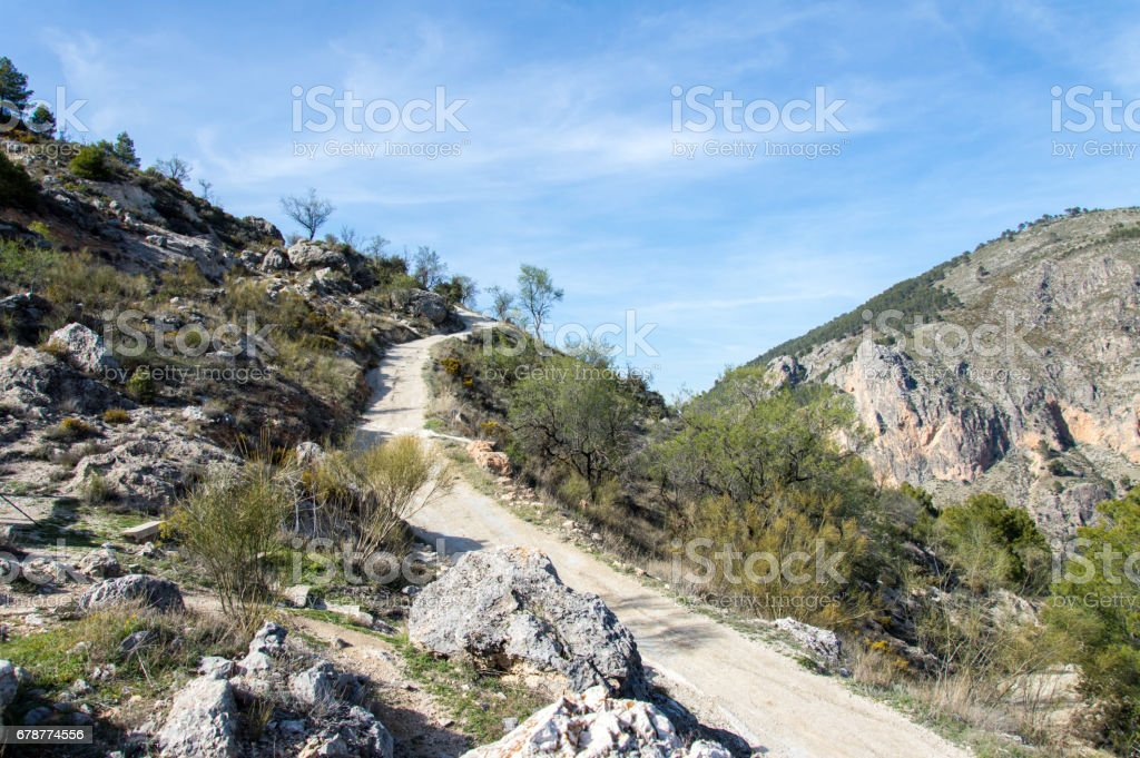 Vue idyllique du paysage andalou, randonnée en Andalousie, Espagne photo libre de droits