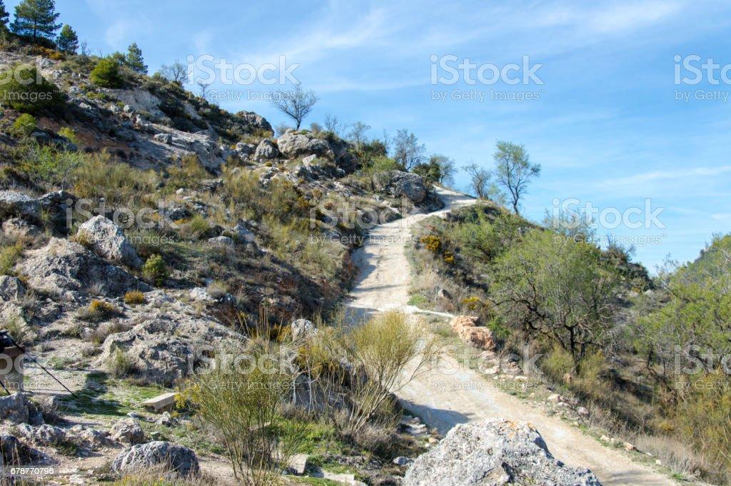 Vue idyllique du paysage andalou photo libre de droits