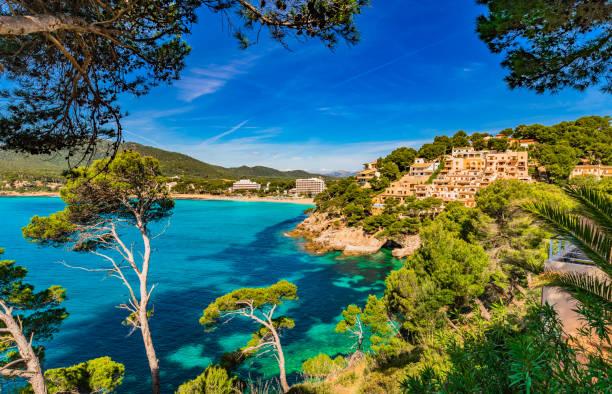 Vue idyllique de Canyamel baie, belle côte sur l'île de Majorque, Espagne - Photo