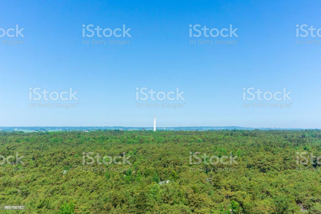 Idyllisk utsikt över danska landskapet, Bornholm, Danmark på en dag i sommar - Royaltyfri Bildbakgrund Bildbanksbilder