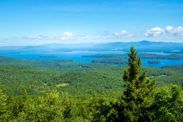 Idyllic view of Lake Winnipesaukee - Stock image – Foto
