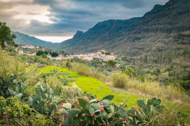 Idyllisches Dorf in den Bergen von Grand Canary – Foto
