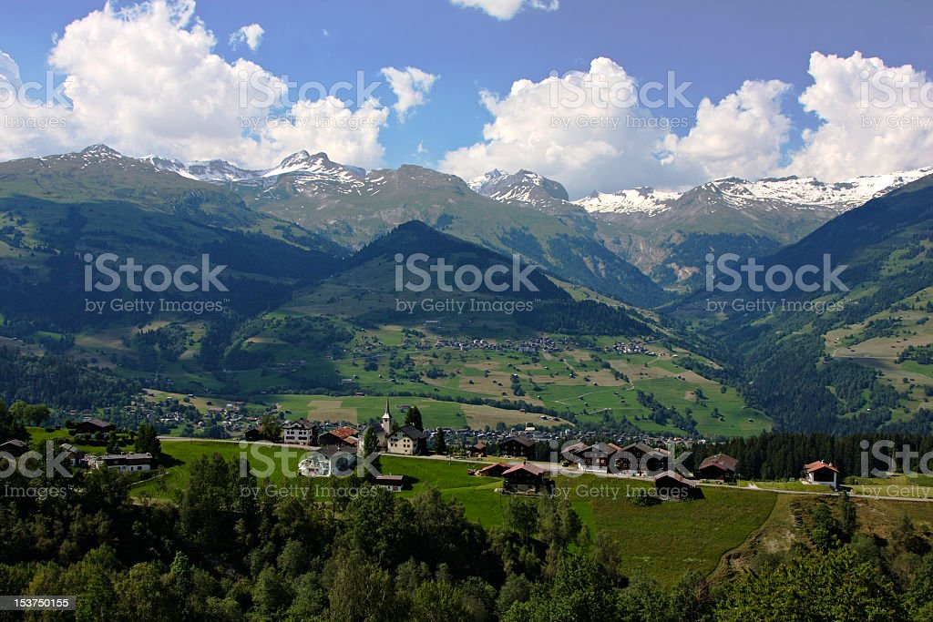 Idyllic Villages in the Mountains stock photo